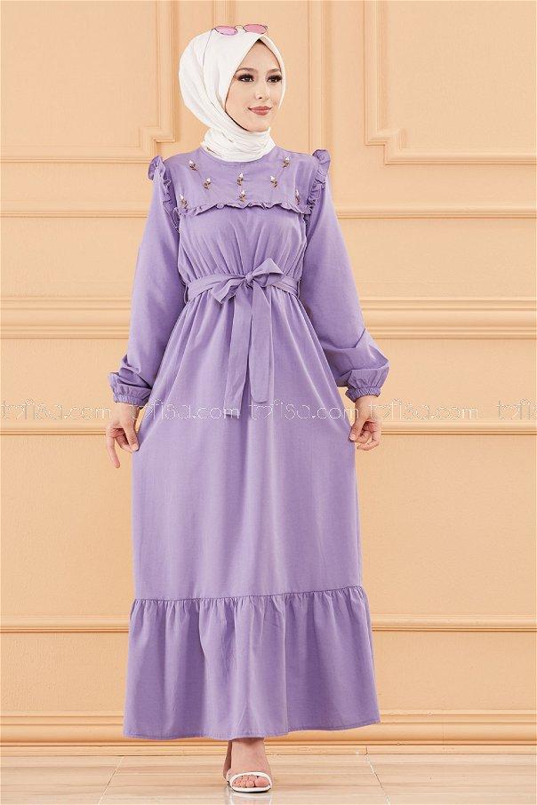 فستان لون ليلكي 3674