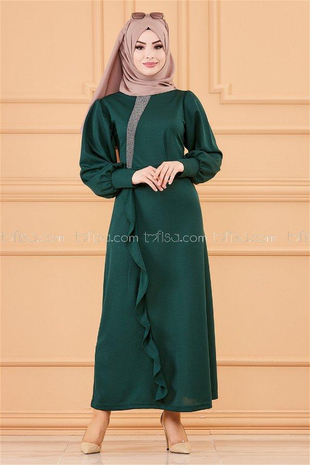 فستان لون زمرد3675