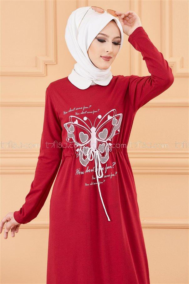 فستان لون خمري 3676