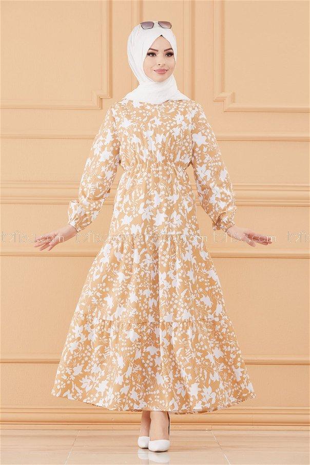فستان لون بيج 3715