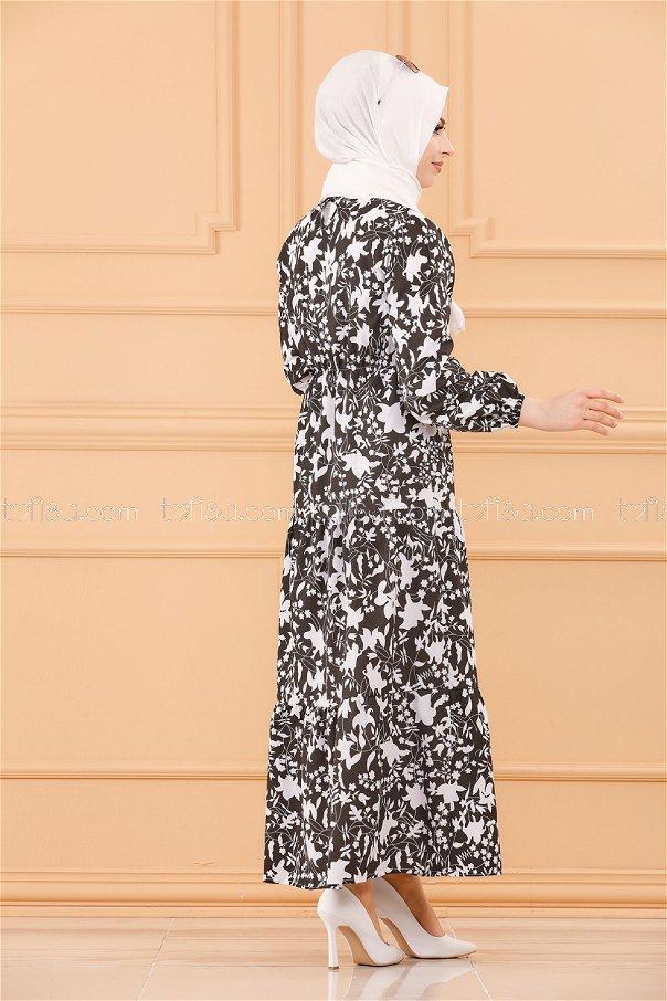 فستان لون اسود 3715
