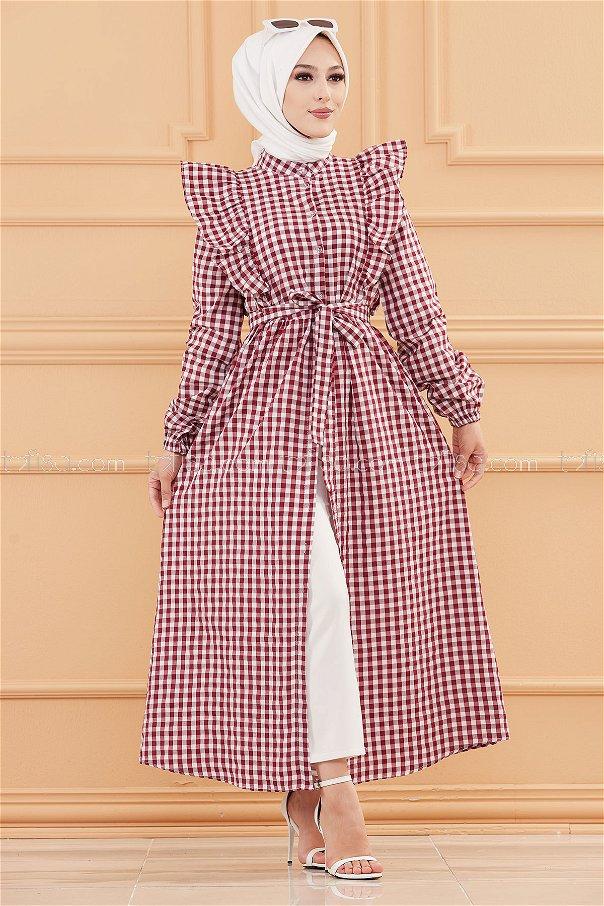 فستان لون خمري 3718