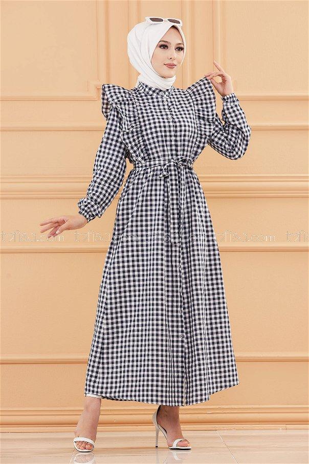 فستان لون كحلي 3718