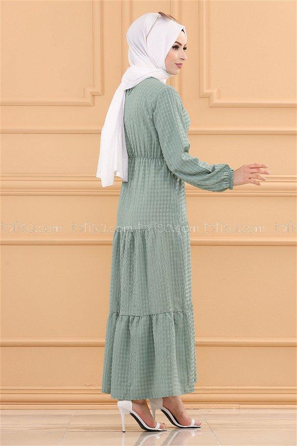 فستان لون فستقي - 3730