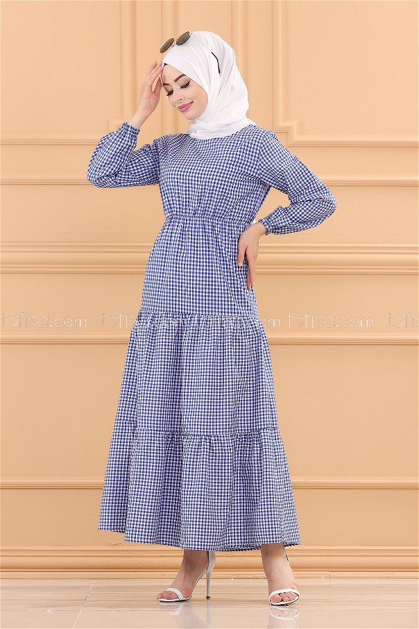 فستان لون ازرق داكن 3731
