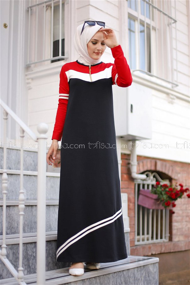 فستان لون احمر 5249