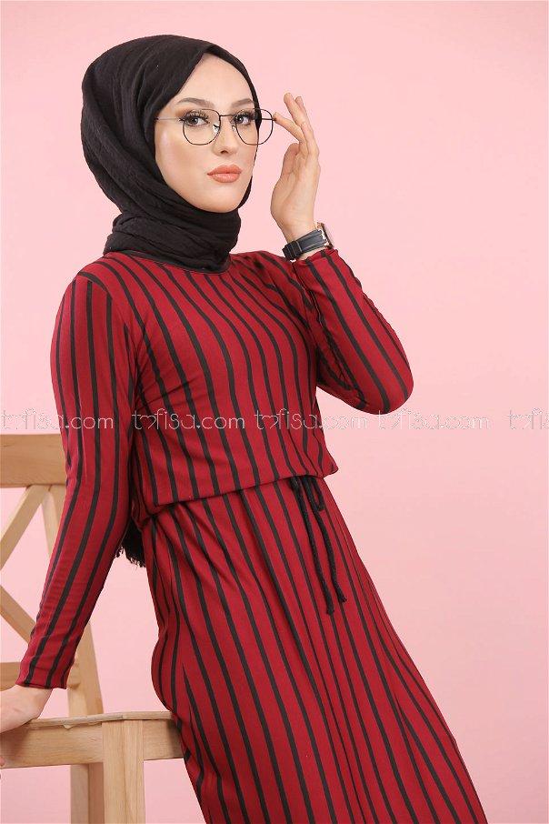 فستان لون خمري 5254