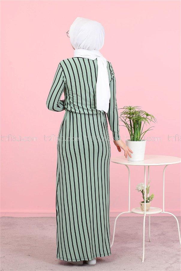 فستان لون ازرق فاتح 5254