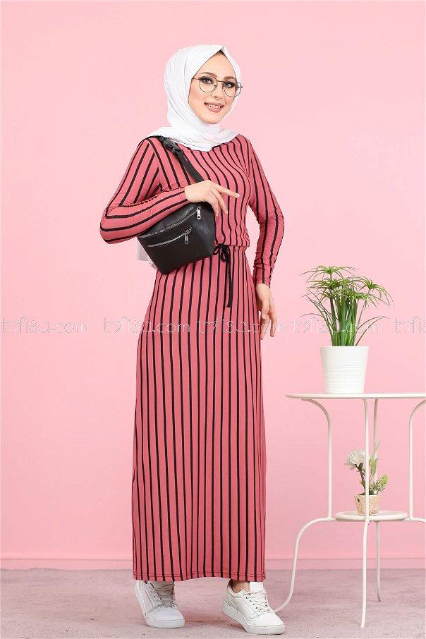 فستان لون فوشي 5254