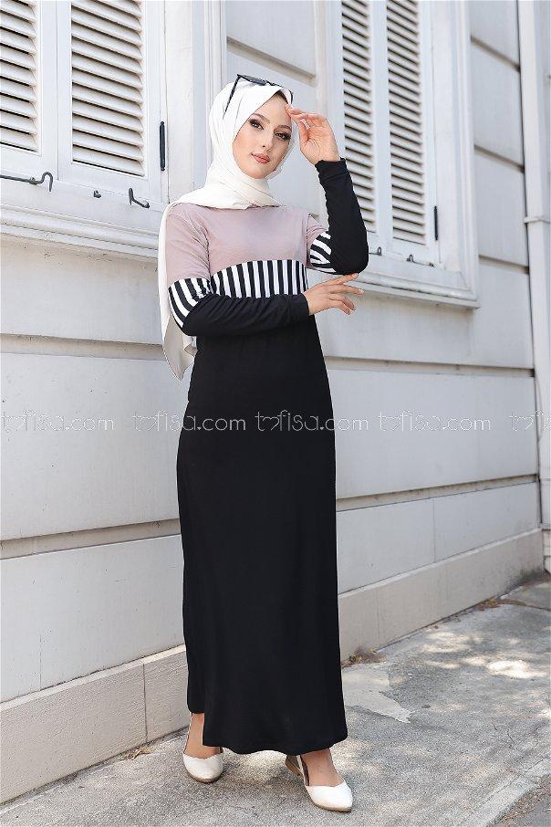 فستان لون بيج 5260