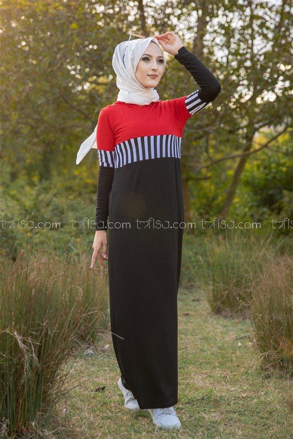 فستان لون احمر 5260