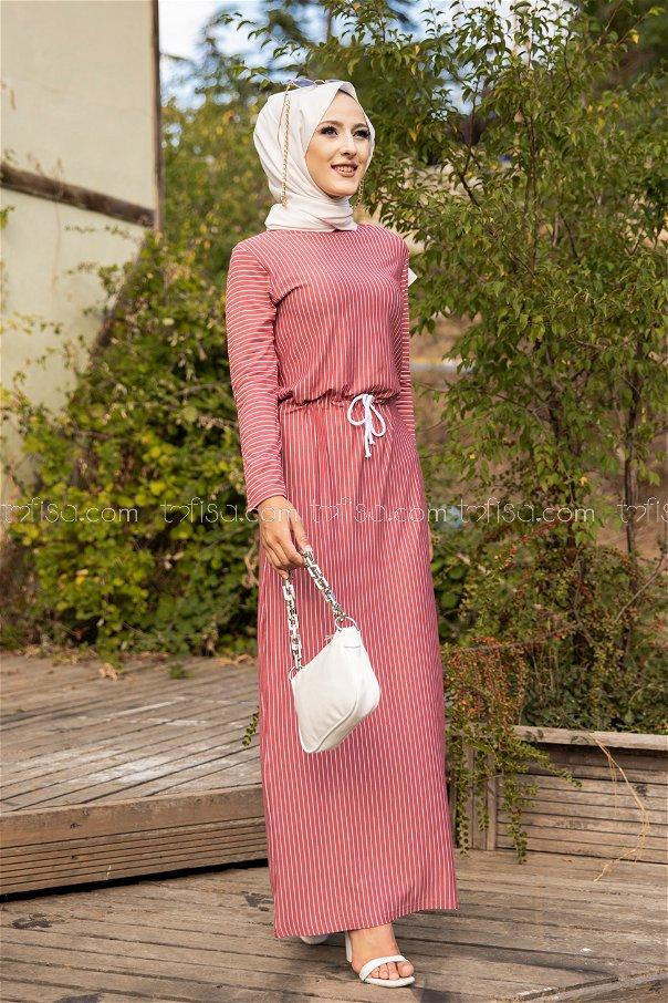 فستان لون وردي 5275