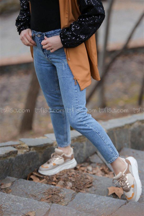 بنطلون جينز ازرق ثلجي - 8303