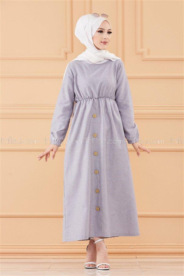 فستان لون فضي 8369