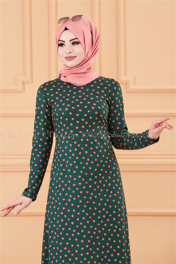 فستان لون زمرد 8453