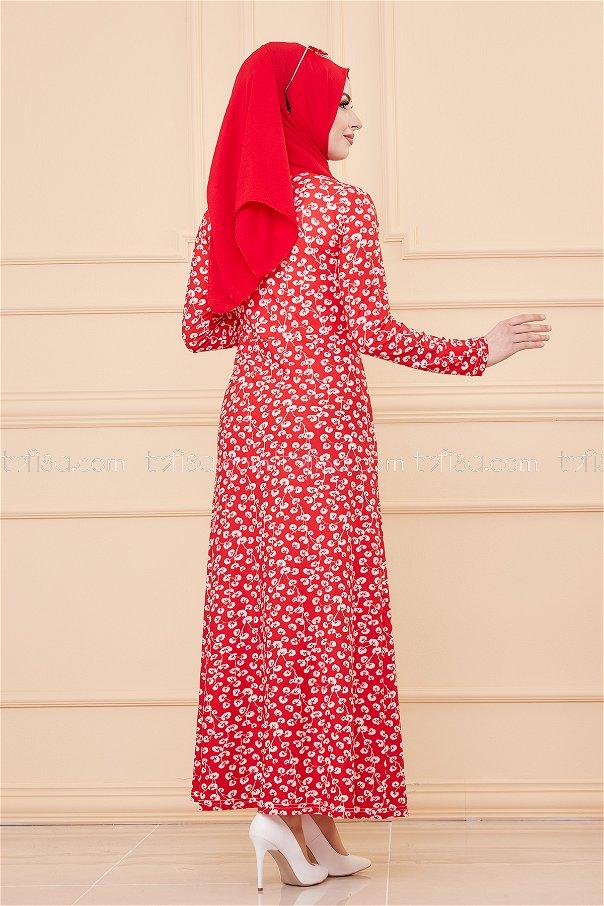 فستان لون احمر 8519