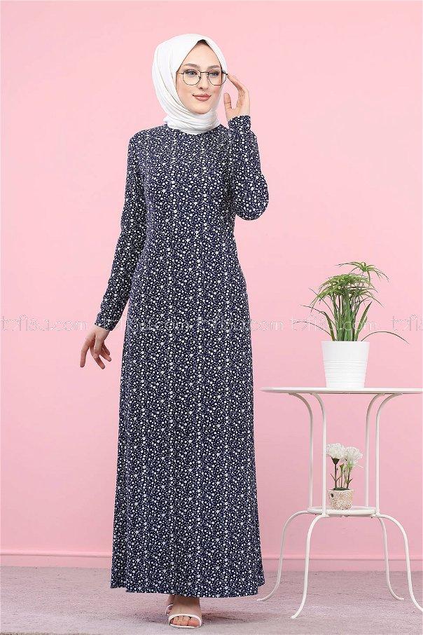 فستان لون كحلي 8520