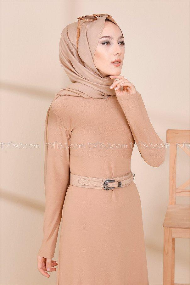 فستان لون بيج 8675