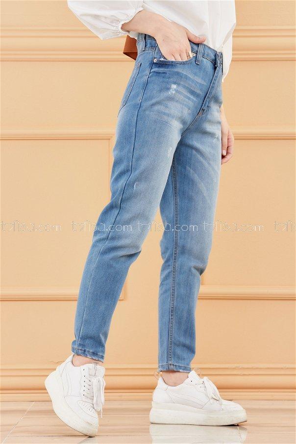 بنطلون جينز لون ازرق 8751