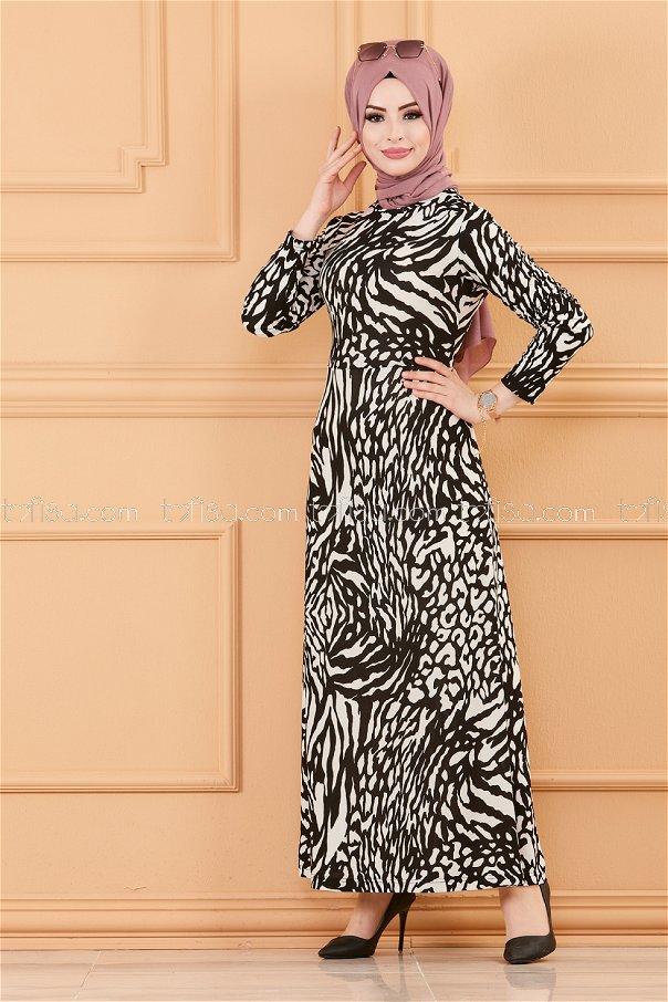 فستان لون ابيض 8768