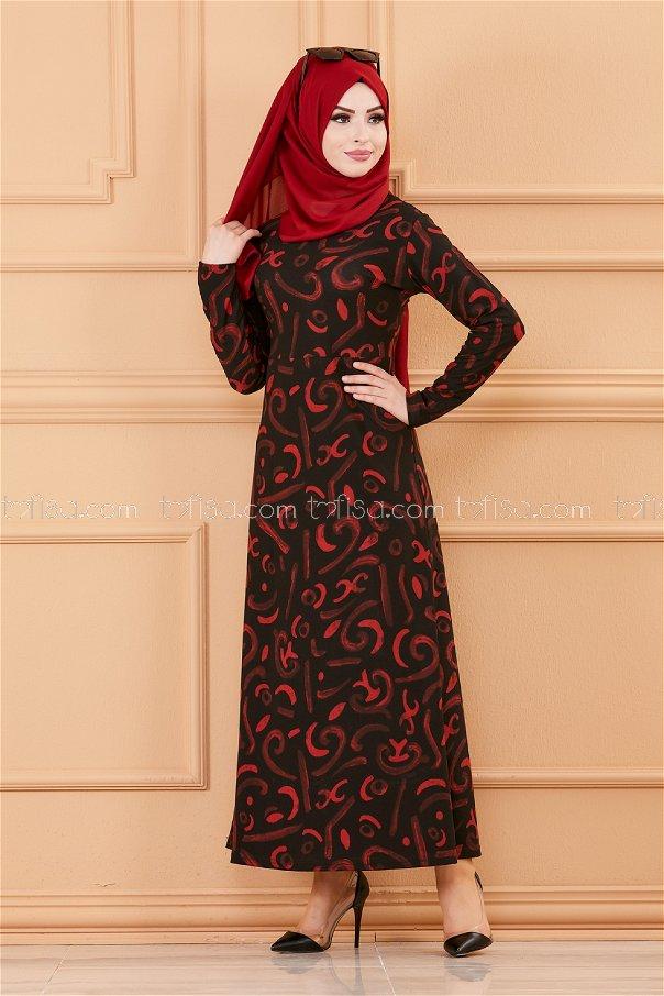 فستان لون اسود 8784
