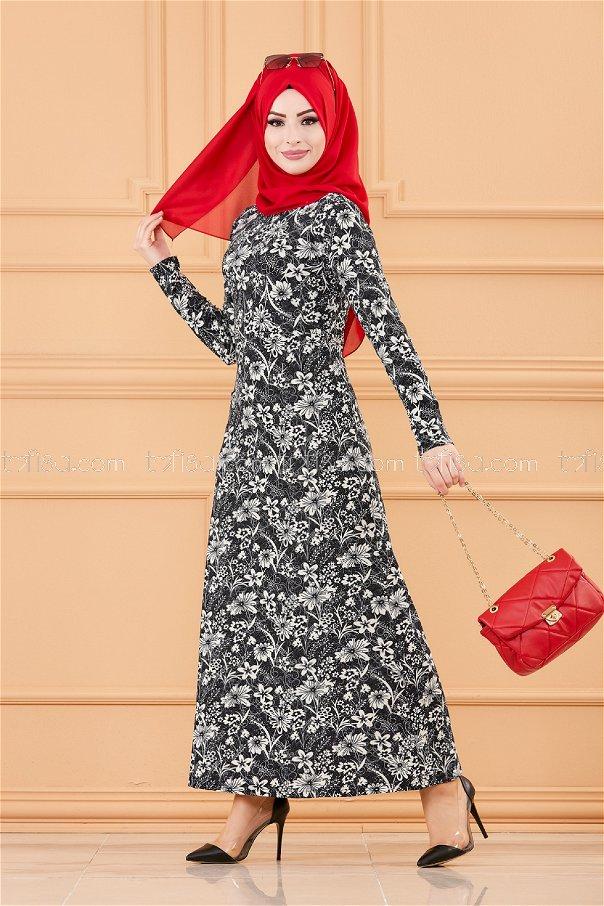 فستان لون كحلي 8786