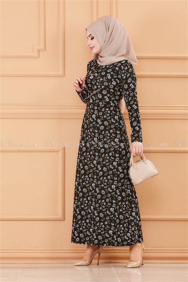 فستان لون اسود 8802