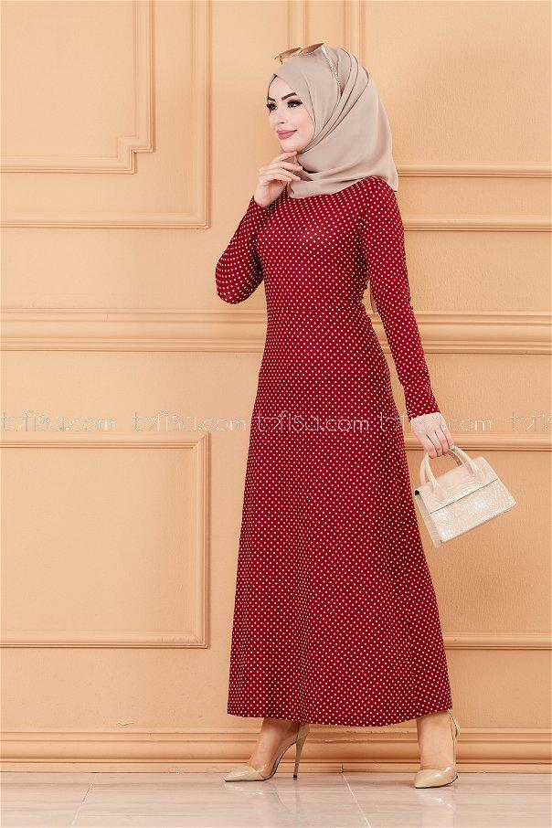 فستان لون خمري 8804