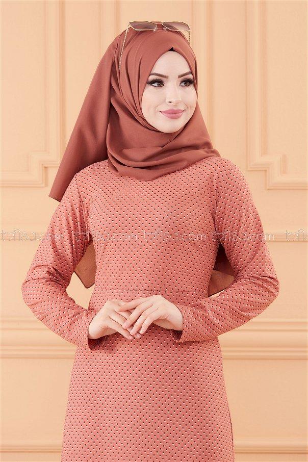 فستان لون وردي 8806