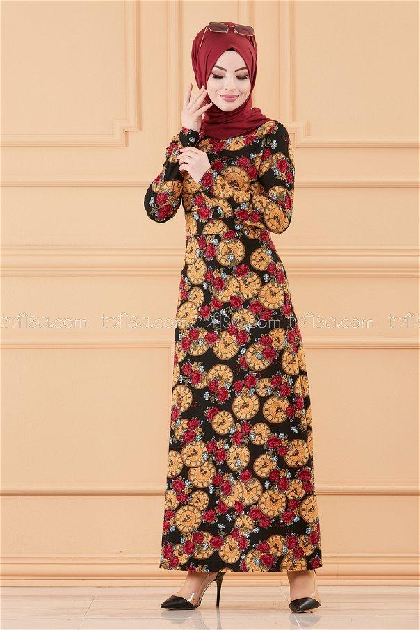فستان لون اسود 8809