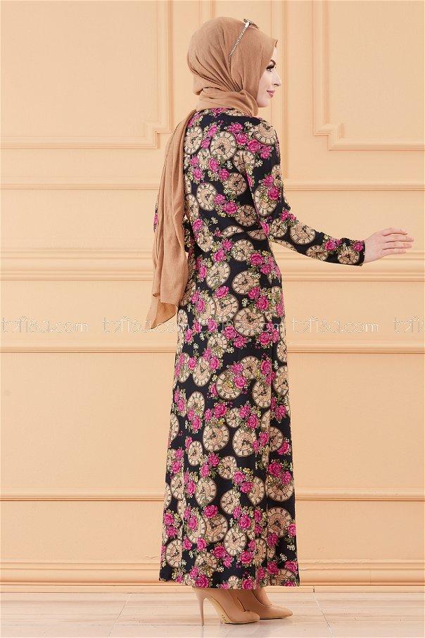 فستان لون كحلي 8809