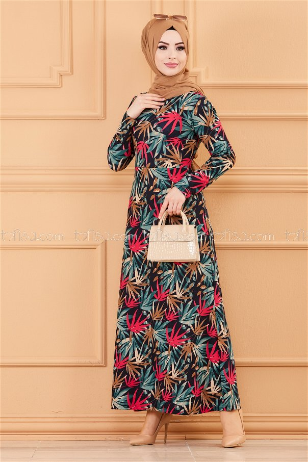 فستان لون اخضر 8810