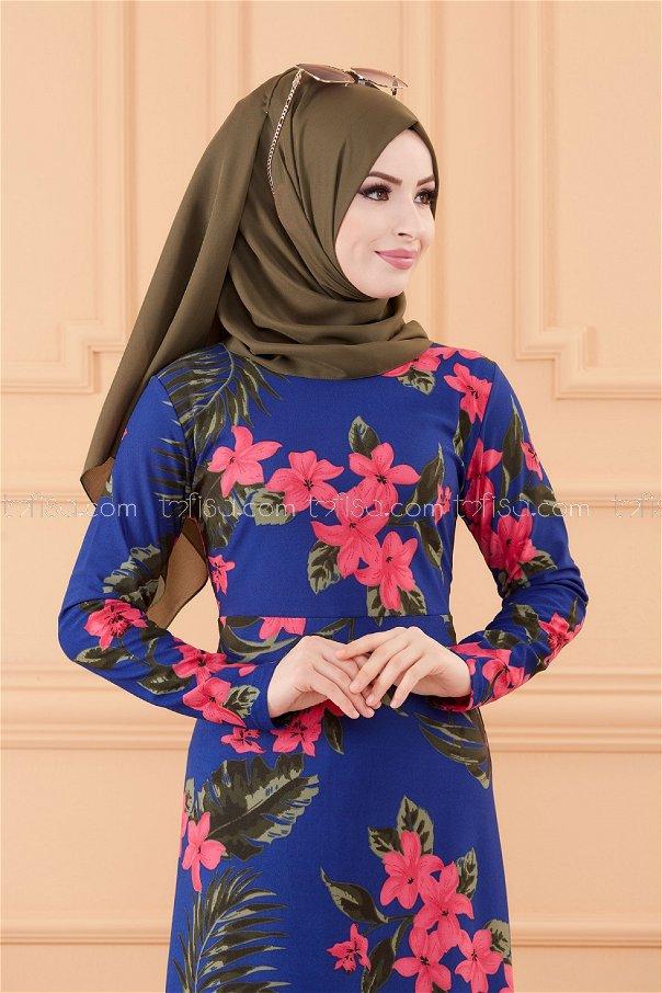 فستان لون ازرق فاتح 8811