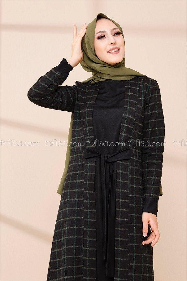 فستان لون اخضر 9093