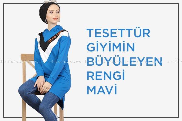 Tesettür Giyimin Büyüleyen Rengi Mavi