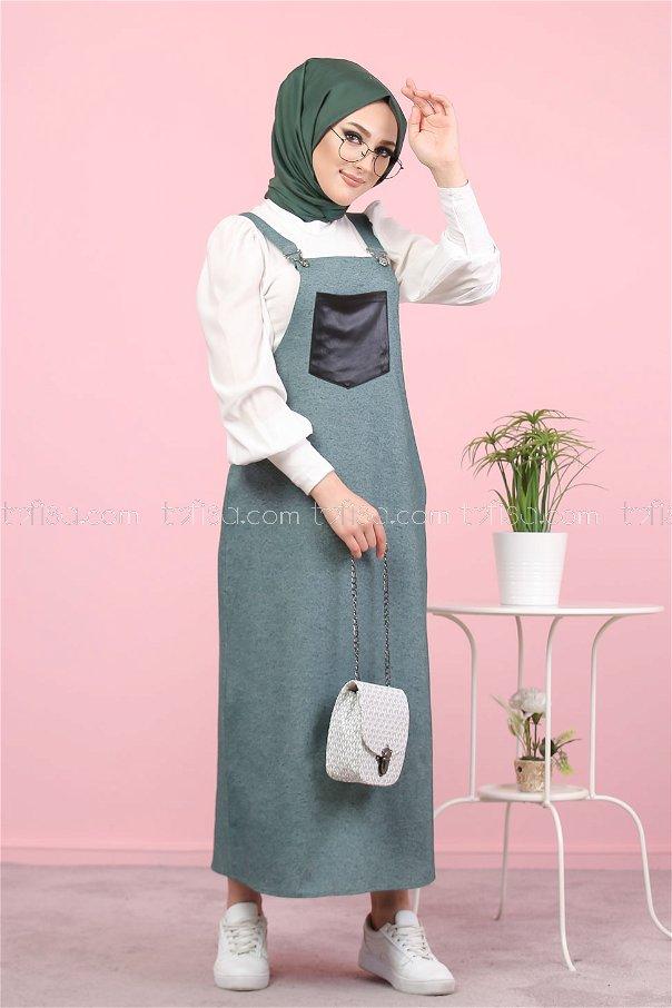 Askılı Elbise Zümrüt - 3006