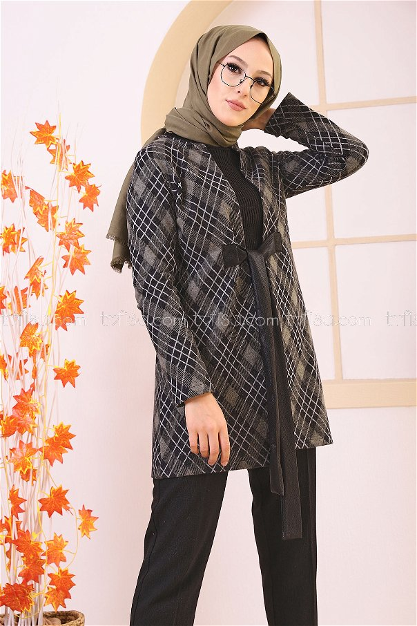 Belted Coat Light Khaki - 3339