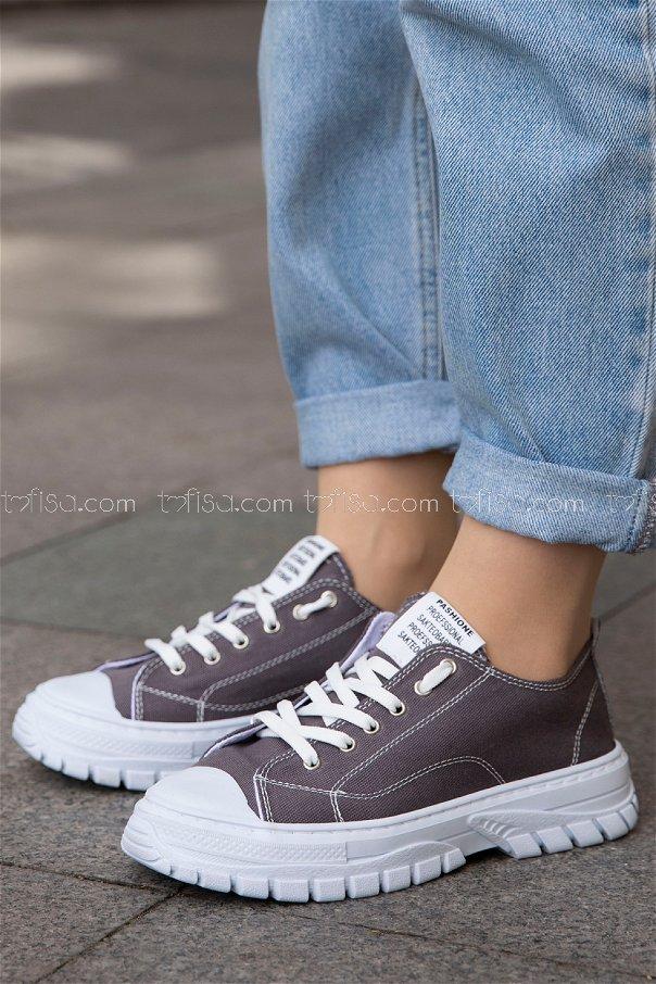 Bez Ayakkabı GRI BEYAZ - 20139