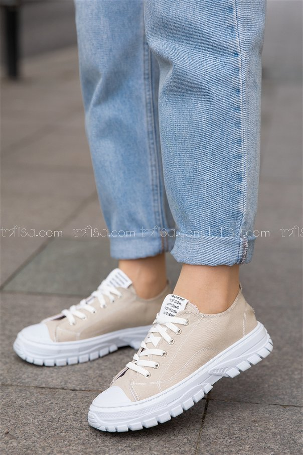 Bez Ayakkabı VIZON BEYAZ - 20139