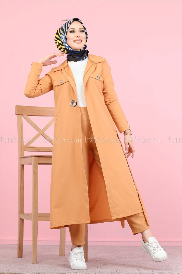 Bird Eye Trench Shirt Mustard - 3044