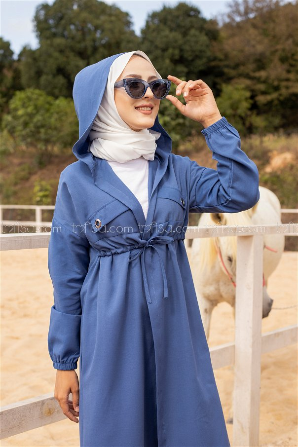 Bird Eyed Trench Indigo - 3072