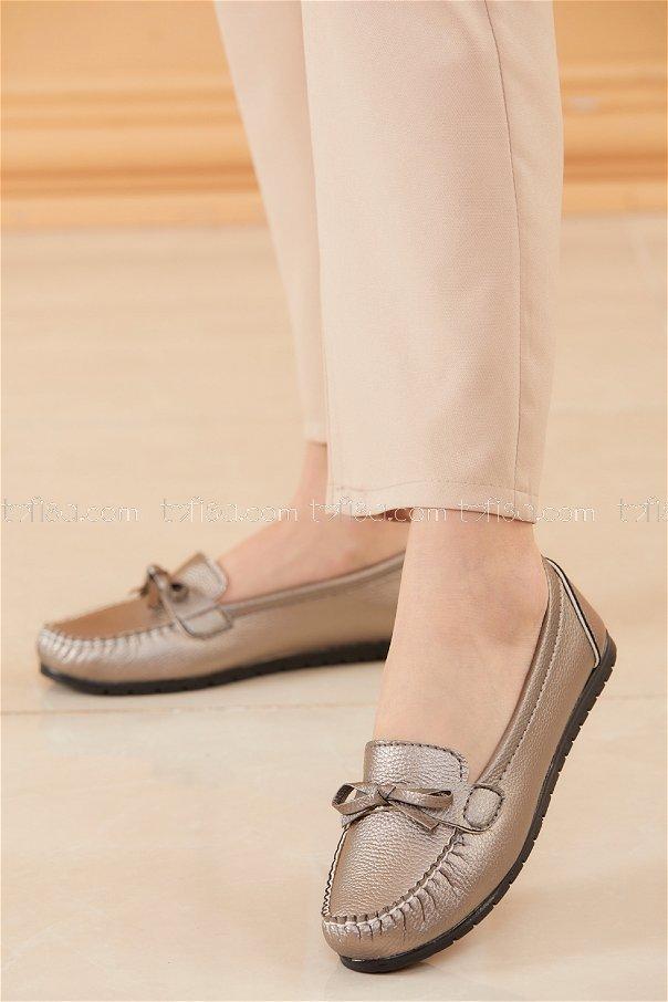 Bıyıklı Model Babet Ayakkabı GRI - 20524