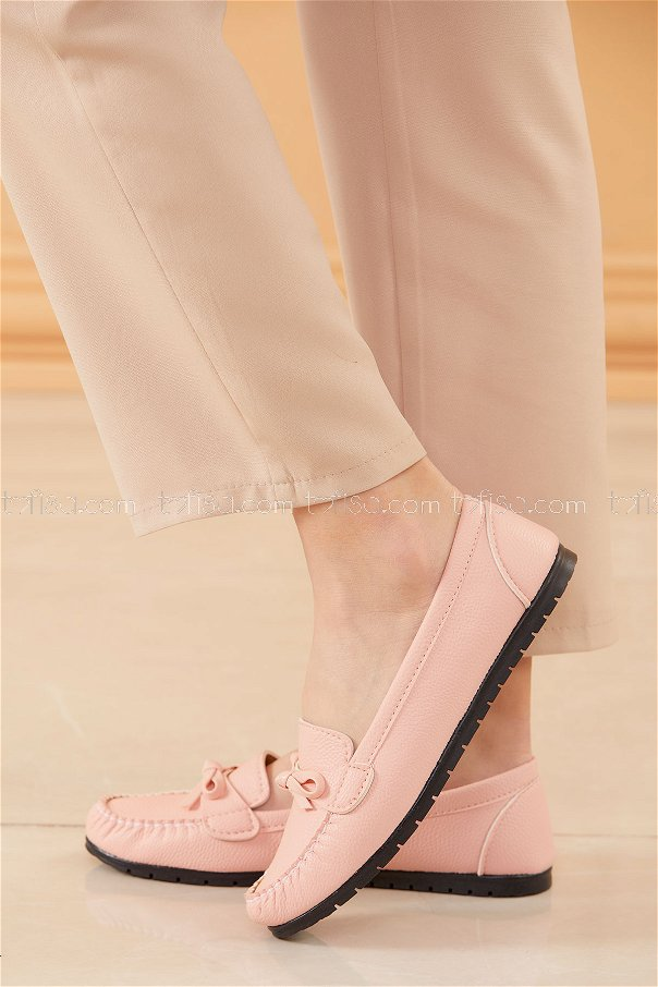 Bıyıklı Model Babet Ayakkabı PUDRA - 20524