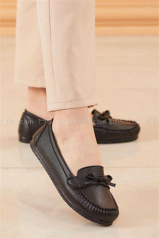 Bıyıklı Model Babet Ayakkabı SIYAH - 20524