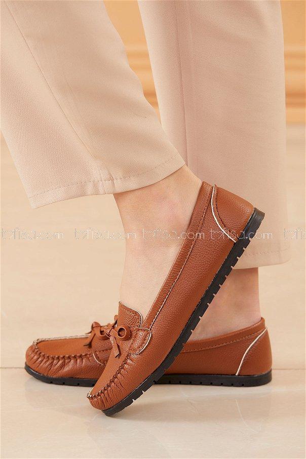 Bıyıklı Model Babet Ayakkabı TABA - 20524