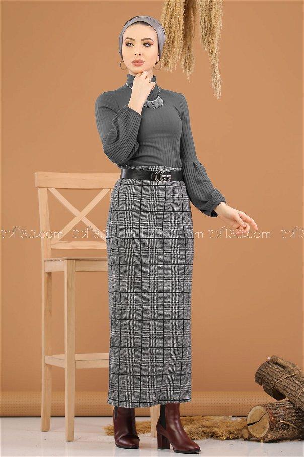 Blouse Skirt Combine D-1 gray - 8270