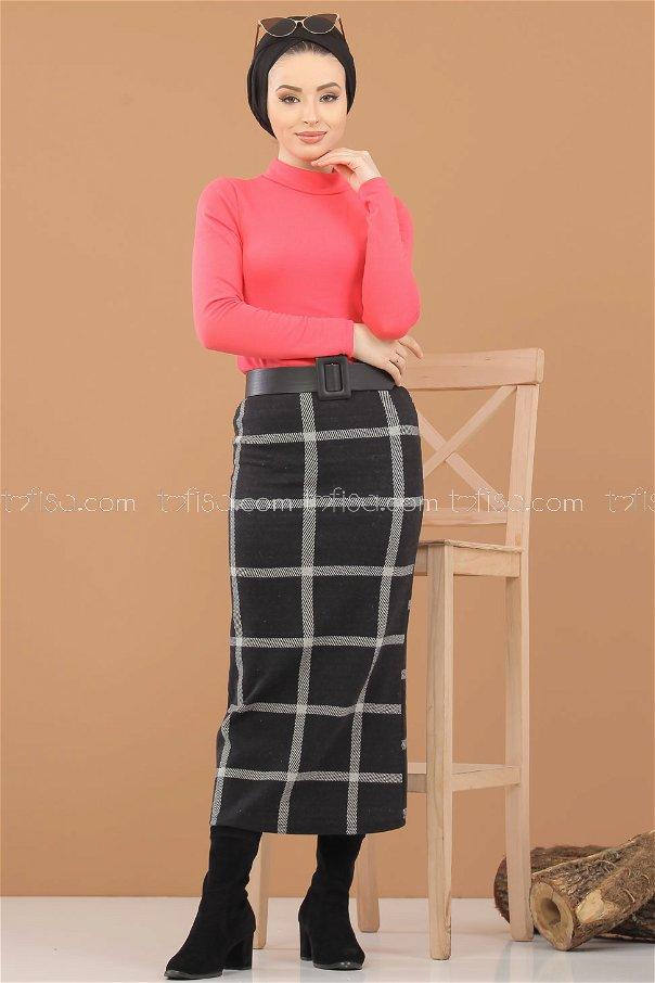 Blouse Skirt Combine fuchsia - 8307
