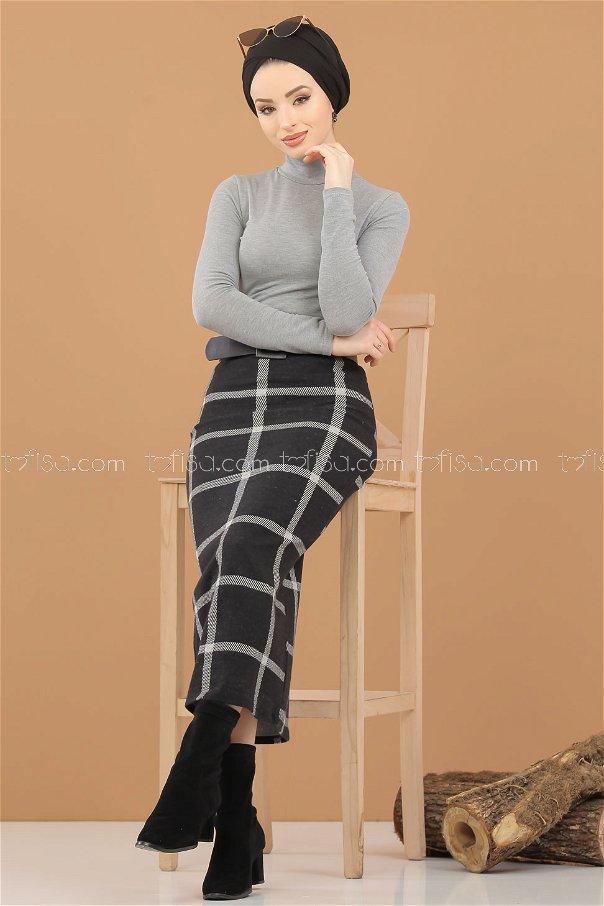 Blouse Skirt Combine gray - 8307