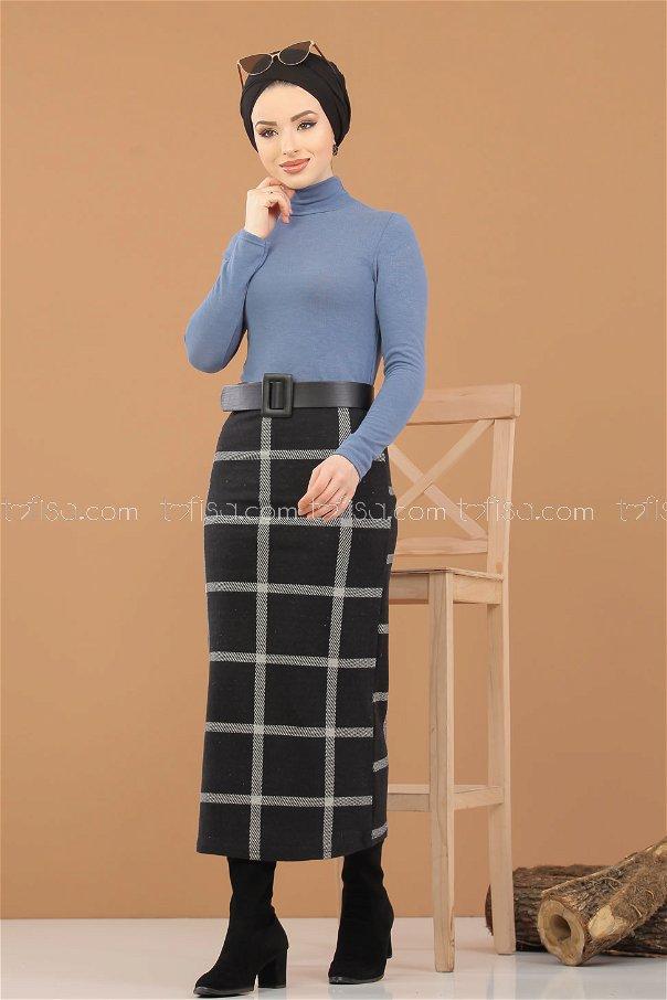 Blouse Skirt Combine indigo - 8307