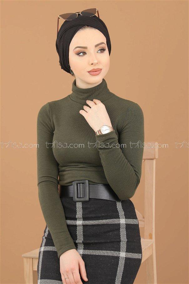 Blouse Skirt Combine khaki - 8307